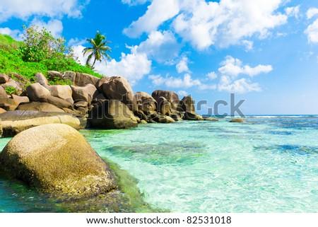 Beauty Summer Beach - stock photo