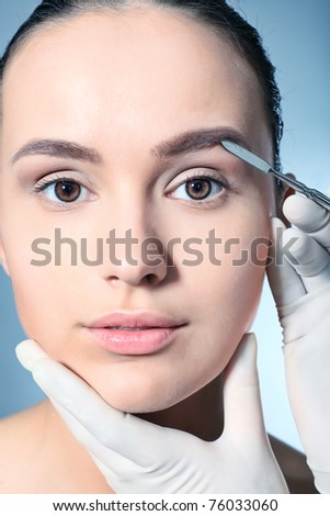 Beauty therapeutical female skin juvenation. - stock photo