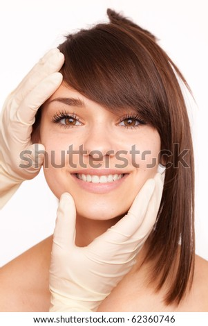Beauty therapeutical female skin-juventation - stock photo