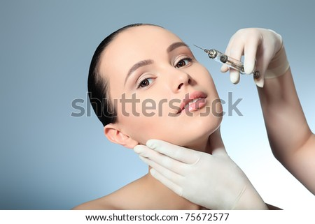 Beauty therapeutical female skin juventation. - stock photo