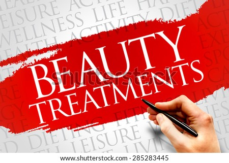 Beauty Treatments word cloud, health concept