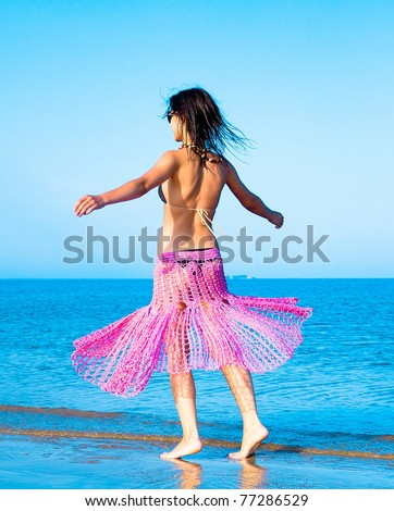 Beauty Vacation Fashion - stock photo