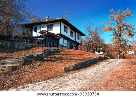 beauty village - stock photo