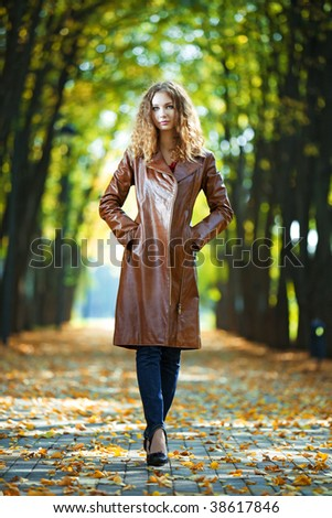 beauty woman autumn portrait outdoors
