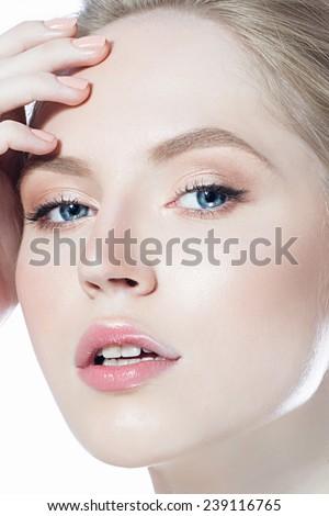 Beauty woman face - stock photo