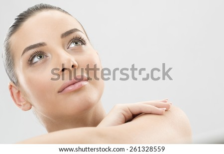 Beauty woman face - stock photo