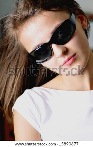 beauty woman in sun - glasses