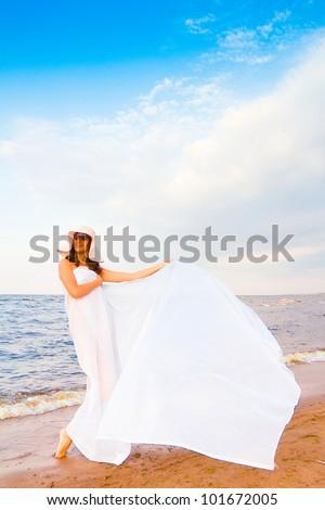 Beauty Woman Joy - stock photo