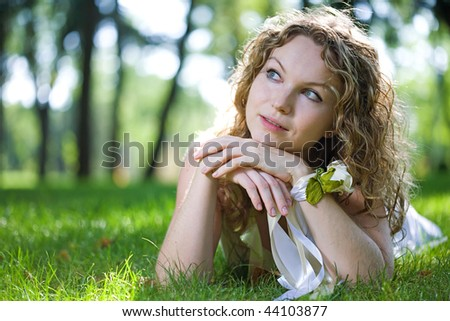beauty woman outdoor in summer