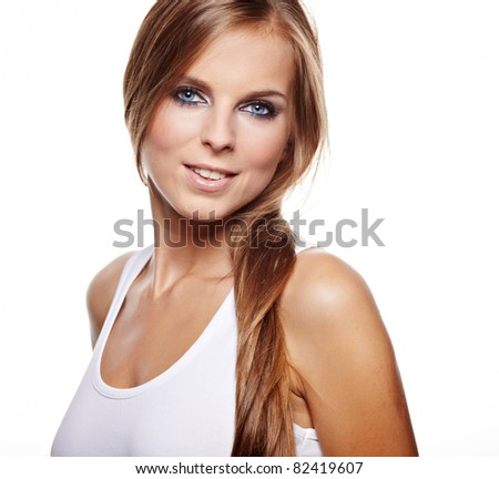Beauty woman portrait - stock photo