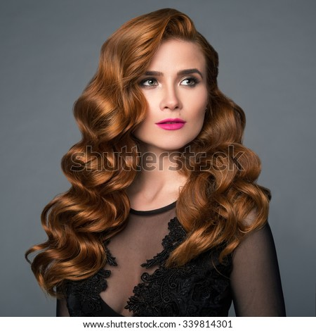 Remarkable Long Curly Red Hair Stock Images Royalty Free Images Vectors Hairstyles For Men Maxibearus