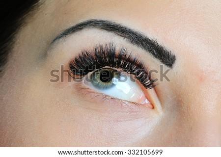 Beauty Woman Portrait. Professional Makeup Brunette Beautiful Fashion Model Girl. Perfect Skin - stock photo
