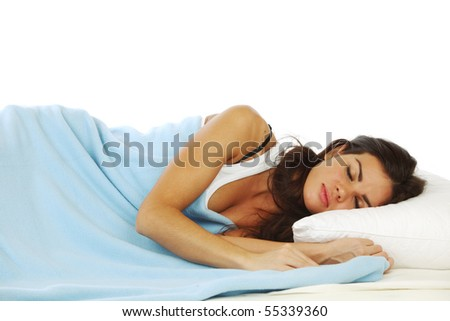 beauty woman sleep