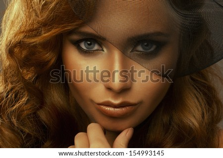 Beauty woman with blonde hair - stock photo