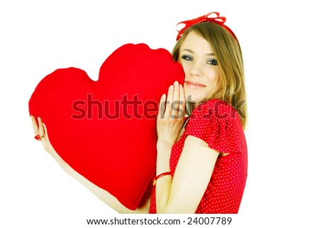 Beauty woman with heart