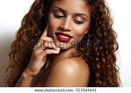 stock photo beauty woman with ideal skin smiling and watching aside 313569641 Is the dominican republic safe for solo female travelers?   what are the dating and marriage traditions in chile