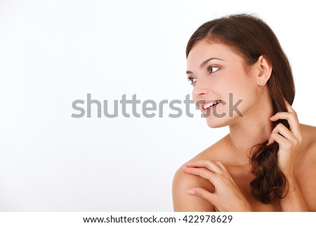 Beauty woman with perfect skin Portrait. - stock photo