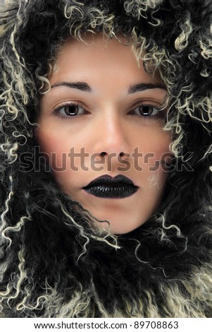 Beauty young woman portrait