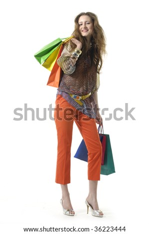 Beauty young woman shopping