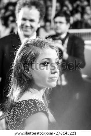 Bebe Cave attend the 'Il Racconto Dei Racconti' Premiere during the 68th annual Cannes Film Festival on May 14, 2015 in Cannes, France. - stock photo