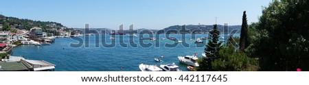 Bebek Bay in Istanbul Bosphorus Panorama - stock photo