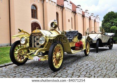 BECHYNE, CZECH REPUBLIC - JULY 29: 1912 HUDSON 27A at Car Competition during Czech Veteran Rallye: Trofeo Nike Bohemia 2011 on July 29, 2011 in Bechyne, Czech Republic. - stock photo