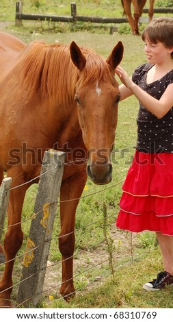 becoming friends - stock photo