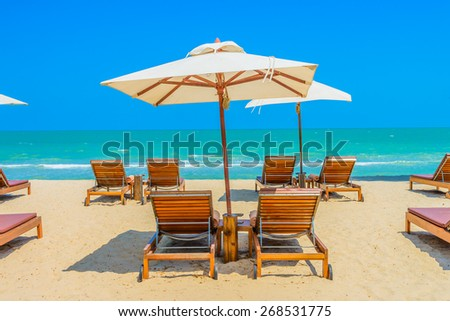 Bed beach on tropical beach