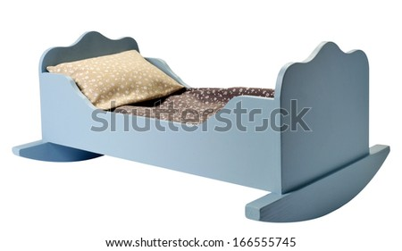 bed for dollhouse - stock photo