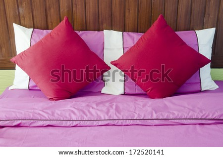 Bed for relaxation - stock photo