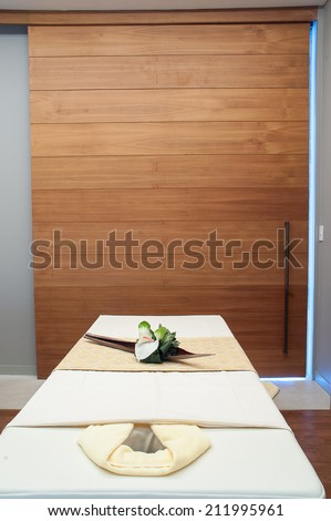 Bed for Thai massage - stock photo