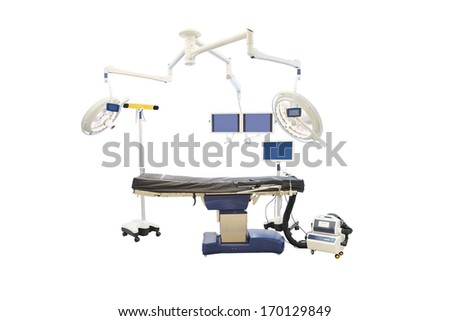 Bed from an operation room - stock photo