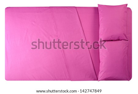 Bed. Isolated - stock photo