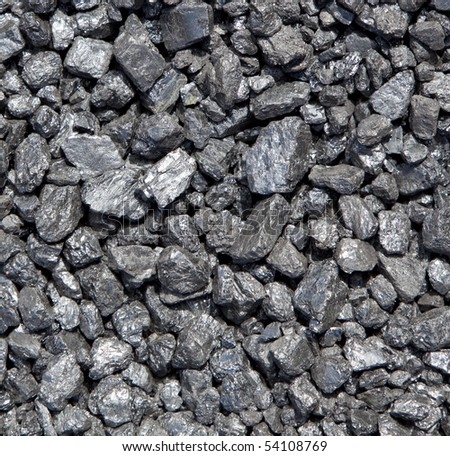 Bed of Crushed Coal - stock photo