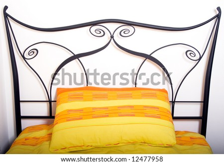 Bed of wrought iron - stock photo