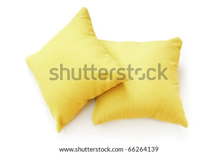 Bed pillow isolated on the white background - stock photo