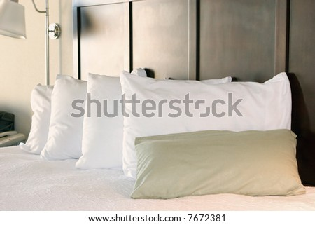 bed pillows - stock photo