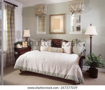 Bed Room Interior Design Home - stock photo