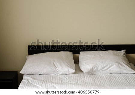 bed white - stock photo