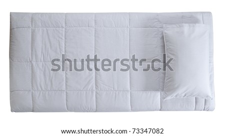 Bedding. Isolated - stock photo