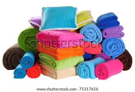 Bedding. Isolated - stock photo