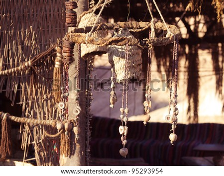 Bedouin house, fragment - stock photo