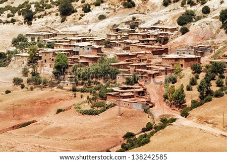 Bedouin village, Morocco - stock photo