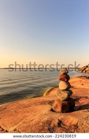 Bedrock porkkala promontory - stock photo