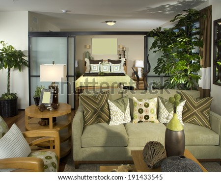 Bedroom Architecture Stock Images, Photos of Living room, Dining Room, Bathroom, Kitchen, Bed room, Office, Interior photography.  - stock photo