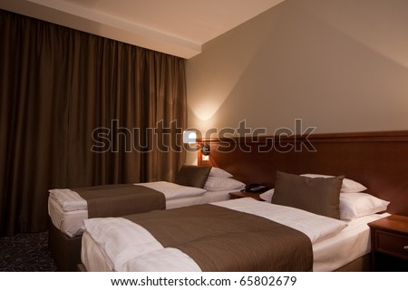 bedroom at night - stock photo
