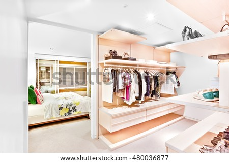 Bedroom Attached Garment Store Room House Stock Photo 480036877 ...