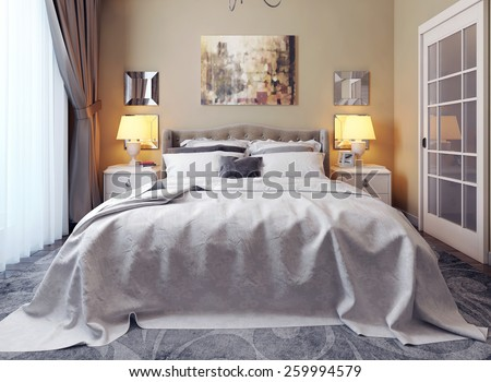 Bedroom classical style. 3d images