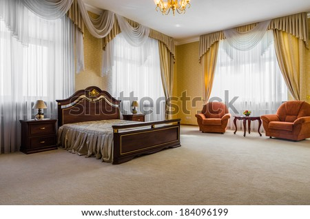 Bedroom classicism interior italian - stock photo