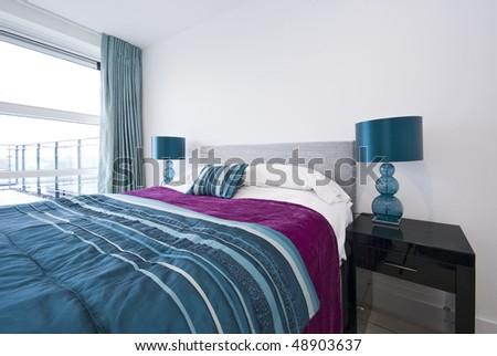 Bedroom detail - stock photo